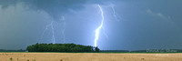 Lightning Over Wheat Field
